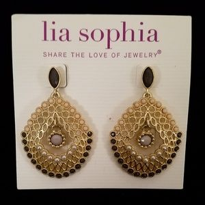 "LIA SOPHIA - ""FANFARE"" earrings, NEW"